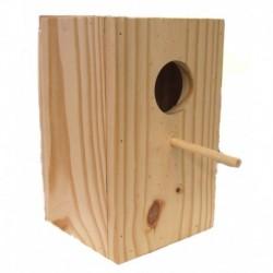 Nido madera cotorra ninfa 19x19x29