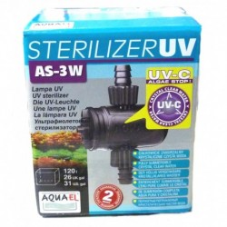 Aquael filtro ultraviolet as-3w  120l