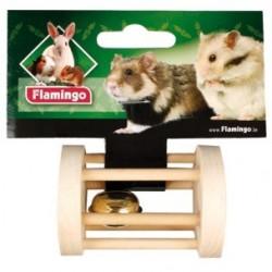 Juguete roedor madera c/cascabel 7cm