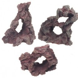 Roca resina rojiza 16cm flamingo