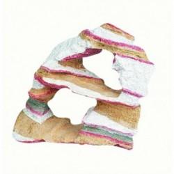 Roca resina arcoiris 14x6x12,5cm 2 cavidades flamingo