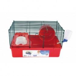 Jaula hamster aiko 38x23x23cm roja