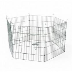 Parque metalico perro 116 x 60cm duvo