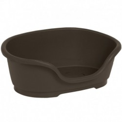Cama plastico chocolate 40 x24x16cm + ventilacion