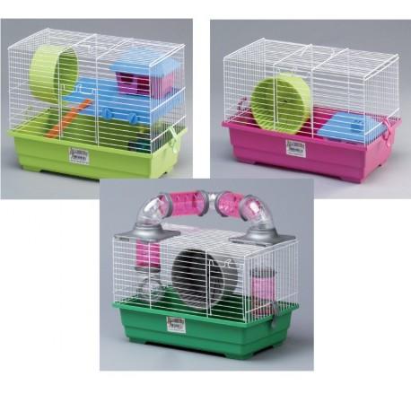 Jaula hamster lote  (1 piso,2 tubing,1 nº2)