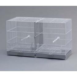 Jaula cria  58x25x39cm blanca 2 separaciones