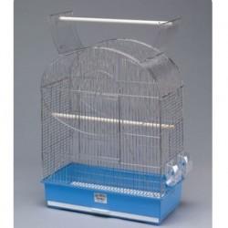 Jaula pajaro aroa cromo 49.5x28.5x65cm