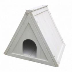 Casita conejo cabaña blanca madera 50x42x42cm