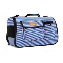 Transportin bolso ibiza azul 42x21x26cm freedog