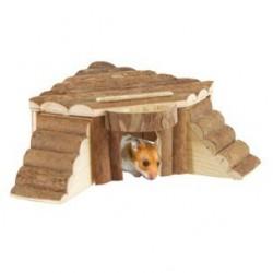 Casita hamster madera alaska 17x11x8cm