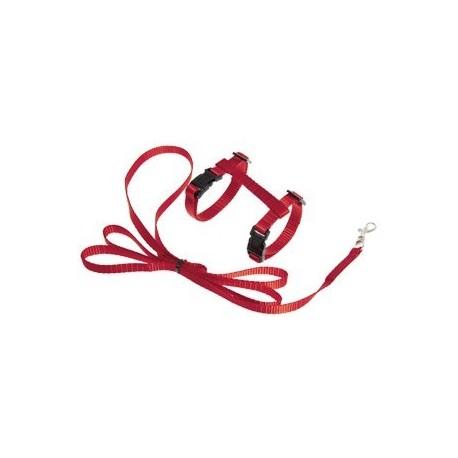 Petral+ramal gato rojo 15-22cmx10mm flamingo