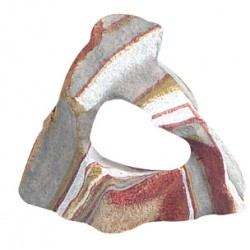 Roca resina arcoiris 11x11x5 1 cavidad flamingo