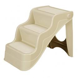 Escalera plastico plegable beige para coches 45.5x37.5x38