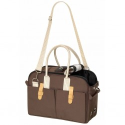Transportin bolso marron boston 45x21x30cm 12kg flamingo