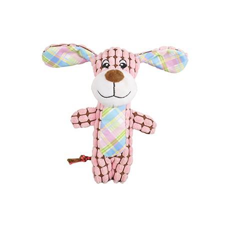 Peluche perro rosa 20cm