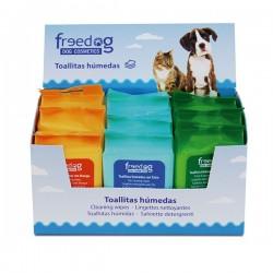 Toallitas higienicas expositor (9x25) freedog