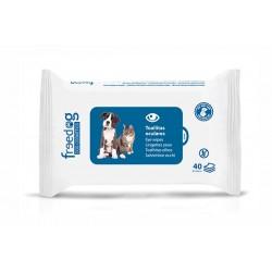 Toallitas higienicas 28x18cm (40) oculares freedog