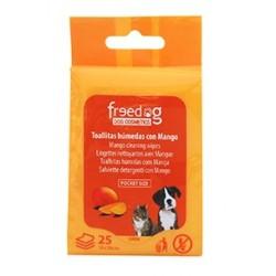 Toallitas higienicas 18x20cm (25) mango freedog