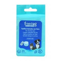 Toallitas higienicas 18x20cm (25) talco freedog
