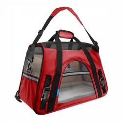 Transportin bolso Fly rojo 48x25x33cm IATA freedog
