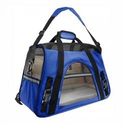 Transportin bolso Fly azul 48x25x33cm IATA freedog