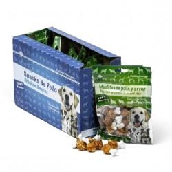 Golosina muslitos pollo y arroz 80g (caja 8 bolsas)