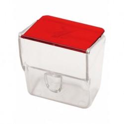 Comedero estrella tapa roja (x10)