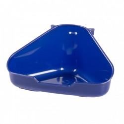 Toilet esquina roedor duvo L azul 37x26x15cm