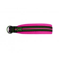 "Collar nylon soft 2.5x38/66cm l"" rosa"""