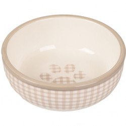 Comedero Mylo gato ceramica blanco/beige 13cm 310ml