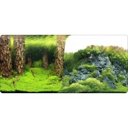 Lamina fondo doble plantas y troncos 50cm 15m