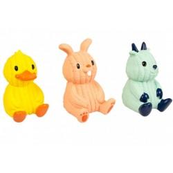 Juguete latex conejo/pato/cabra 12.5cm