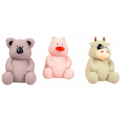 Juguete latex cerdo/toro/koala 11.7cm