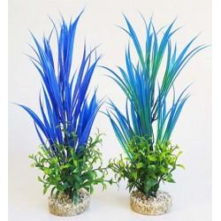 Planta plastico sydeco 30cm aqua blue ocean