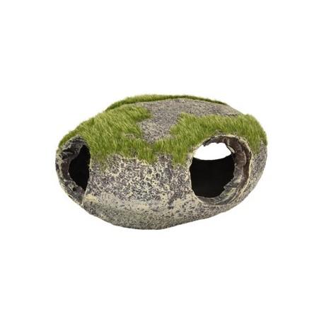 Piedra refugio con musgo 12x11x6cm