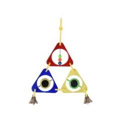 Juguete periquito triangulos 11x2x16cm