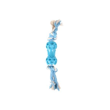 Juguete pesas+cuerda azul 34cm