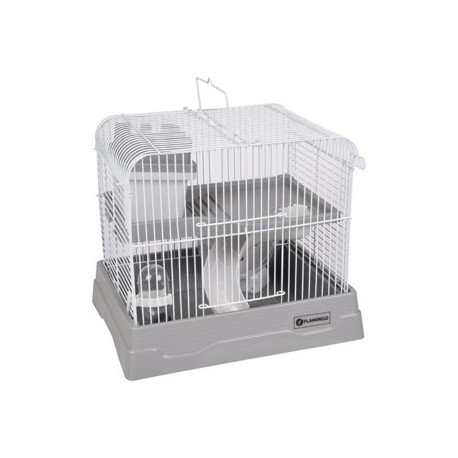 Jaula hamster dinky 30x23x26cm completa gris