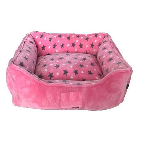 Cuna rectangular eco rosa estrellas 55cm nº34