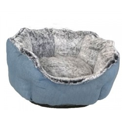 Cuna redonda eco azul y gris 54cm nº03