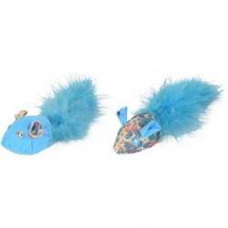 Ratones azul con pluma 4x15x3.5cm
