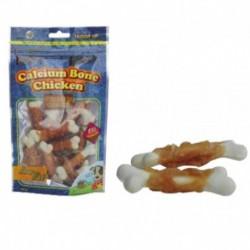 Golosina huesitos pollo c/calcio 100gr hobbitalf