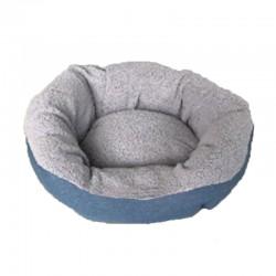 Cuna redonda eco gris/azul 54cm nº11