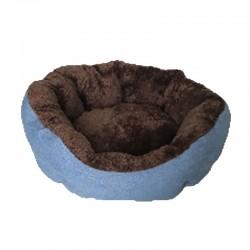 Cuna redonda eco cafe/azul 54cm nº08
