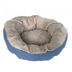 Cuna redonda eco beige/azul 54cm nº09