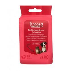 Toallitas higienicas 18x20cm (25) clorhexidina freedog