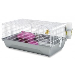 Jaula hamster martha 46,5x29,5x21cm+rueda+casita