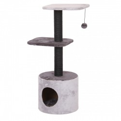 Poste gato base redonda + 2 pisos gris 93cm ebi