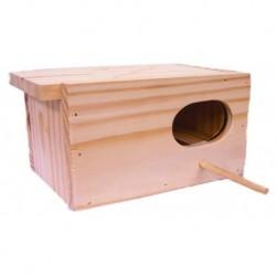 Nido madera periquito 20x10x10