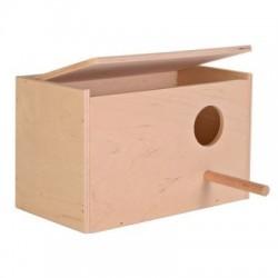 Nido madera agapornis horizontal 22x15x14